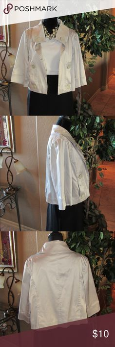I just added this listing on Poshmark: Super cute silver satiny jacket. #shopmycloset #poshmark #fashion #shopping #style #forsale #Elle #Jackets & Blazers