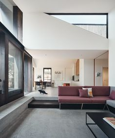 Split House - FMD Architects Living Area, Living Spaces, Living Room, Interior Architecture, Interior Design, Australian Architecture, Modern Interior, Melbourne House, Kitchen Benches