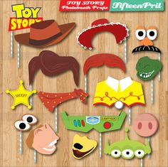 instant download toy story photobooth props by fifteenpril on etsy - Toy Story Activity Center Download
