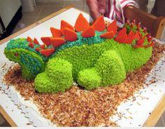 easy to do dinosaur cake