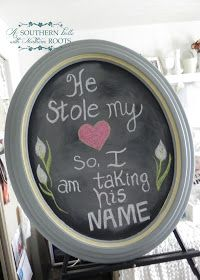 A Southern Belle with Northern Roots: Chalk Board Sign- For Home and Wedding