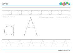 Aquí tienes un abecedario completo de fichas con actividades de las letras. En cada una de ellas tienes dos líneas para repasar, con la mayúscula y la minúscula, dos letras grandes (mayúscula y minúscula también), y un hueco para dibujar algo que empiece con la letra correspondiente o para pegar (collage). Fichas de iniciación a …