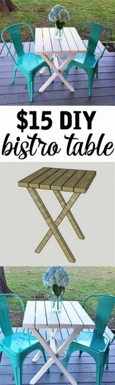 Make this easy DIY bistro table for under $15 @istandarddesign