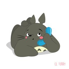 Day 80. Totoro wants you to hang up first!