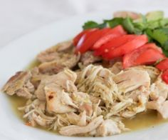 Easy Slow Cooker Chicken Verde Recipe | Paleo inspired, real food