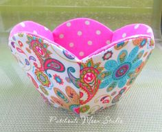 Patchouli Moon Studio~ Scalloped Fabric Bowl with Pentagon Base                                                                                                                                                                                 More