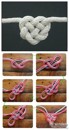 This knot can be made with a single strand, or multiples, then used in a bracelet or necklace.