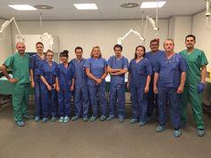 PARTICIPATION AU PRACTICUM DE CHIRURGIE DU PIED A MADRID Ce week-end se déroulait en Espagne le 2ème Practicum de chirurgie du pied à l'Université San Pablo à Boadilla del Monte, banlieue de Madrid, dispensée par l'association Cirugia Podologica. Cette formation, destinée aux podologues français avait pour objectif d'actualiser et approfondir les connaissances anatomiques et chirurgicales des pathologies de l'avant-pied : principalement l'ongle incarné, mais également l'hallux valgus...