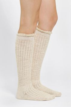 """Crochet Lace-Cuff Knee-High Sock   """"boot socks"""" i love the ones with buttons too!"""