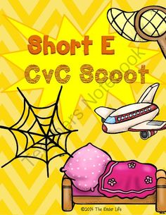 Short E CvC SCOOT Game- 16 CvC Word Cards PLUS 4 different recording sheets from TheKinderLife on TeachersNotebook.com -  (11 pages)  - Help your kiddos master their short E CvC words with this 16 card SCOOT game!
