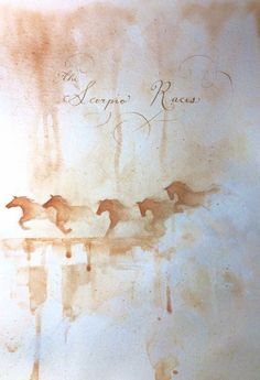 The Scorpio Races by Maggie Stiefvater - Watercolour and ink