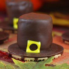 Pilgrim Hat Thanksgiving Cookies