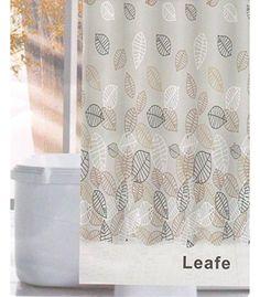 Linenwalas Leafe Design Water Repellent Bathroom Shower C… Bathroom Essentials, Bathroom Shower Curtains, Damask, Home Kitchens, Water, Prints, Design, Gripe Water, Damascus