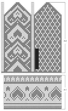 "The Heart of the Mitten - DROPS Valentine: Sydänkuvioiset DROPS käsineet ""Merino Extra Fine"" -langasta. - Free pattern by DROPS Design"