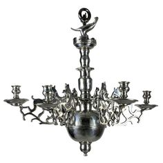 17th Century Flemish Silver Chandelier | From a unique collection of antique and modern chandeliers and pendants  at http://www.1stdibs.com/furniture/lighting/chandeliers-pendant-lights/