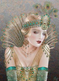Maxine Gadd published fairy and fantasy artist. Exceptional digital illustrations and mystical beings Moda Vintage, Vintage Modern, Vintage Art, Vintage Paintings, Art And Illustration, Illustrations, Art Nouveau, Moda Art Deco, Steampunk Kunst
