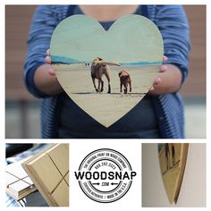 Puppy Love.. & one of our heart shaped WoodSnaps  www.woodsnap.com
