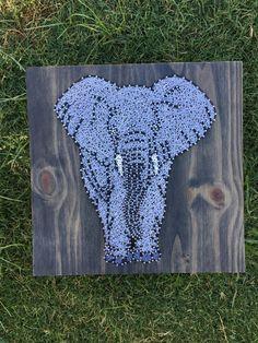 MADE TO ORDER Elephant String Art Board от KailsStringArt на Etsy