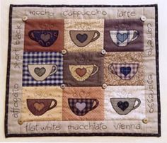 Coffee quilt design......idea for mug rug
