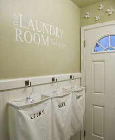 Snygg tvättsortering i påsar