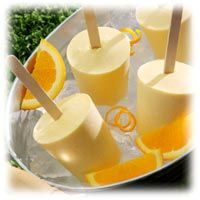 Low Carb Yummies! - Frozen Orange Creamsicles - 0 carbs - VERY YUMMY!