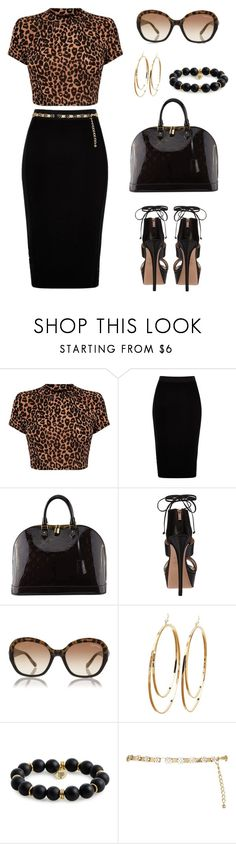 """""""Untitled #1443"""" by gallant81 ❤ liked on Polyvore featuring River Island, Louis Vuitton, Ruthie Davis, Roberto Cavalli, Charlotte Russe and Bourbon and Boweties"""