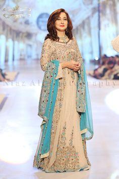 Sky #Blue and Beige Bridal Visit Our Store: http://www.ethnicwholesaler.com/salwar-kameez/party-wear-salwar-kameez