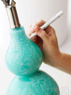caneta permanente, caneta porcelana, DIY, faça você mesmo