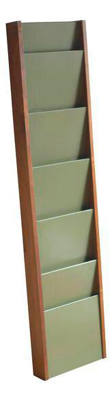 Vintage Peter Pepper Lacquer Walnut Magazine Rack on Chairish.com