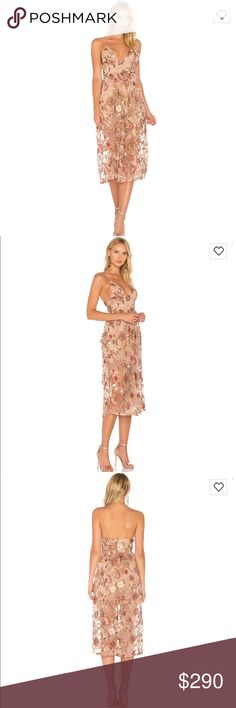 NWT For Love & Lemons Botanic Midi Dress Color: nude floral Product details in picture For Love And Lemons Dresses Midi