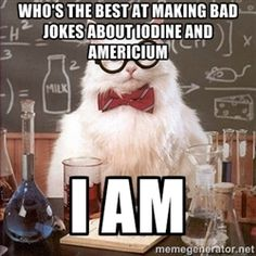 A little science silliness with Chemistry Cat.