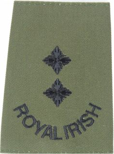 Royal Irish Regiment Lieutenant Rank Slide Officer rank badge for sale Northern Ireland Troubles, Military Ranks, Royal Marines, Royal Air Force, Badges, Soldiers, Irish, Shoulder, Irish Language