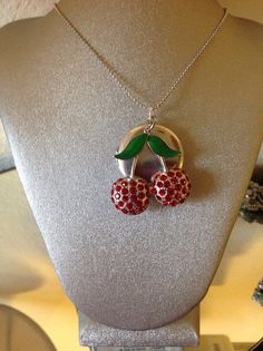 Cherry+locket+or+diffuser+oil+necklace+by+LidyangelsBoutique