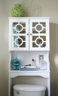 13 Awesome Over The Toilet Storage Idea Picture: Over Toilet Bathroom  Cabinet Storage