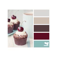 paleta inspirada em cupcakes - neutros, vinho e azul claro