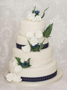 The Liggy's Cake Company - special handmade cakes  Dornoch Wedding Cake Cake as shown serves 140-160 guests.