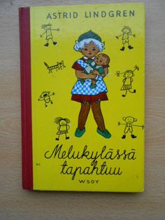 Lindgren Astrid : Melukylässä tapahtuu , Antikvaarin hinta: 12 EUR Cover, Books, Home Decor, Livros, Libros, Decoration Home, Book, Interior Design, Blanket