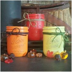 is just around the corner! We're Loving this set of coloured jars that K just finished! Wouldn't they look nice in your house? Perhaps with a tea light candle? Msg us if you are interested! Upcycling Projects, Around The Corner, Moscow Mule Mugs, Harvest, How To Look Better, Mason Jars, Upcycle, Candles, Autumn