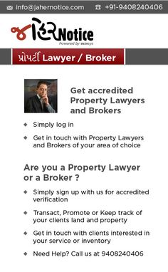 Get accredited #ProperyLawyer and #Brokers. To know more log on www.jahernotice.com