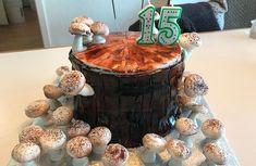 Mushroom Log Cake