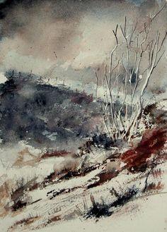0089  Watercolor 446 Print by Pol Ledent