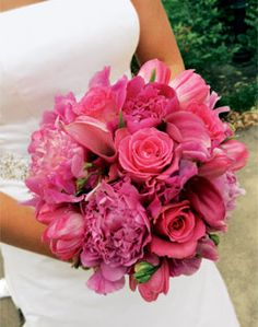Peonies and tulips would be perfect!