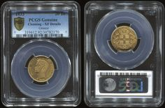 "20 drx. (1833) in gold.(0,900) with ""Otto, King of Greece"" in slab of PCGS ""Cleaning - XF Details"" (Hellas 117) Very Fine plus"