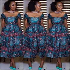 Super Attractive Ankara Styles for the Week - Ankara collections brings the latest high street fashion online African Attire, African Fashion Dresses, African Dress, Ankara Fashion, African Style, Bold Fashion, Unisex Fashion, African Princess, Ankara Dress