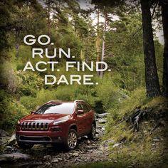 Go. Run. Act. Find. Dare. Chrysler Dodge Jeep, Jeep Dodge, My Dream Car, Dream Cars, Jeep Cherokee For Sale, Jeep Brand, Car Mods, Auto Service, Car Shop