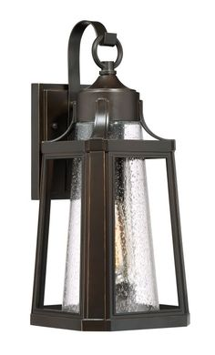 """Quoizel LTE8407 Lighthouse Single Light 17"""" Tall Outdoor Lantern Style Wall Scon Palladian Bronze Outdoor Lighting Wall Sconces"""