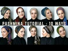 How to Tie a Tichel with an Infinity Scarf - YouTube