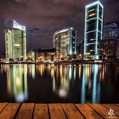 Amazing view of Zaitunay bay By Ali Tawil #WeAreLebanon #Lebanon #WeAreLebanon