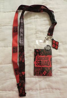 Suicide Squad Harley Quinn Lanyard Badge / Ticket Holder New