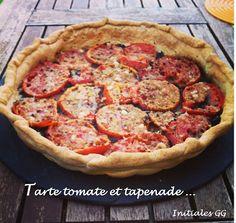 Tarte fine tomate et tapenade